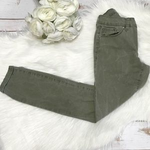Jessica Simpson Forever Skinny Crop Olive Jeans 25